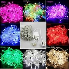 100/200/300/400/500 LED Xmas Christmas Tree Fairy String Lights Party Wedding UK