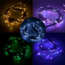 10m 180 LED String Light Copper Wire Fr Xmas Christmas Tree Wedding Party Garden