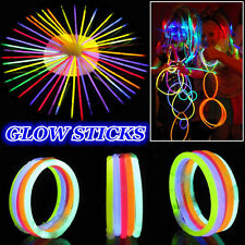 DIY 8'' Premium Glow Sticks Lightsticks Bracelets Necklaces Neon Party Favor Lot