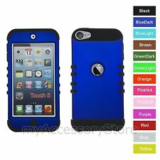iPod Touch 5th 6th GEN Blue RKR Hard&Rubber ShockProof Rugged Armor Case Cover