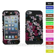 iPod Touch 5th 6th GEN Sakura Flowers RKR Hard&Silicone Rubber Rugged Case Cover