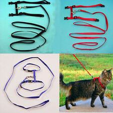 New Nylon Pet Cat Kitten Adjustable Harness Lead Leash Collar Belt Safety Rope Q