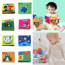 Educational Baby Kids Toy Squeaky Cloth Books Play Reading Learning Development
