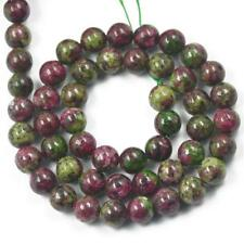 Round Spacer Loose Gemstone Ruby Zoisite Beads Strand for Jewelry Making