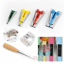 Set of 4 New Fabric Bias Tape Maker Kit Guide Strip Sewing Quilting Binding Tool