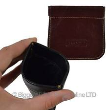 NEW Mens Ladies Top Qaulity LEATHER Snap top COIN TRAY PURSE by Golunski Branded