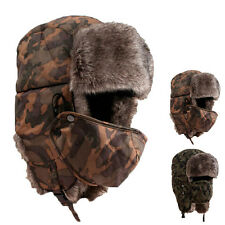 Soft Waterproof Unisex Camouflage Winter Hat Wind Mask Cold-proof Rimq Warm Cap