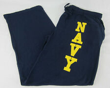 Mens Womens NEW U.S. Navy Pajama Lounge Pants Navy Blue Size XL
