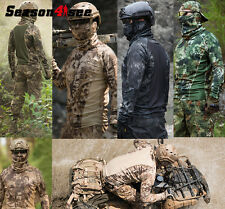 5 Color Tactical Camouflage Men Moisture Wicking Long-sleeve Army T-shirt M-XXL