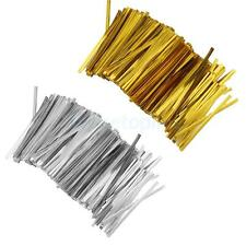 Pack Of 800pcs Metallic Twist Ties for Candy Cello Bag Biscuit Cookie Decoration