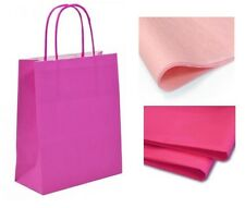 20 x 18 x 8 cm Hot Pink Paper Party Gift Bags Wedding Favour gift Bag & Tissue