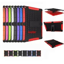 3D 2in1 Skip-Proof Grenade Grip Rugged Heavy Duty Tough Case TPU Cover For iPad