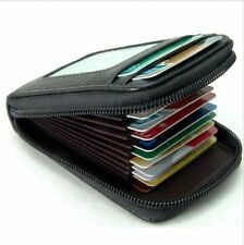 Mens/Womens Fashion Mini Leather Wallet ID Credit Cards Holder Organizer Purse