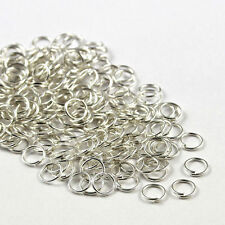 Silver Plated Open Jump Rings Connector Jewelry Making 4/5/6/7/8/9/10mm