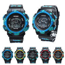 Waterproof Cool Mens Boys Kids Digital  LED Quartz Alarm Date Sports Wrist Watch