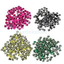 100pcs 9mm Pyramid STUDS Spots Spikes RIVETS Punk Rock Leathercraft DIY Biker