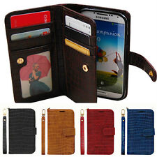 Samsung Galaxy S6edge g925 Gavialis Two-Side wallet Phone case With Strap