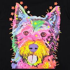 Kids Westie Dog T-Shirt Unisex Children to Adult Cute Youth boys Terrier Neon