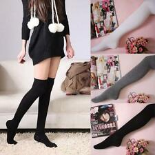 Women Sexy Cotton Over The Knee Socks Thigh High Stocking Thinner vintage Socks