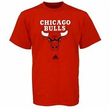 Chicago Bulls ADIDAS Official Primary Team Logo (Red) T Shirt Men's Large