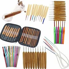 Aluminum Metal Plastic Bamboo Crochet Hooks Yarn Knitting Needles Set