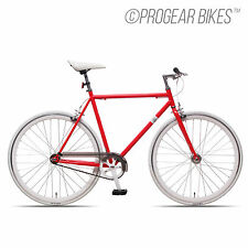 Progear Fixie Bicycle Single Speed Bike 700c Steel 53/56cm Neon Red