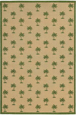 Tommy Bahama Beige Tropical Trees Palms Contemporary Area Rug Floral 7126G