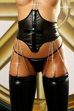Dominatrix Suspender set Erotic lingerie Sexy with Chains Neck shackle Fetish