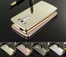 Luxury Ultra-Thin Aluminum Metal Frame Case Mirror Back Cover for LG G2 G3 G4
