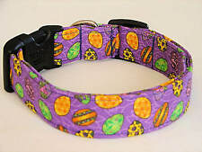 Charming Purple with Colored Easter Eggs Dog Collar