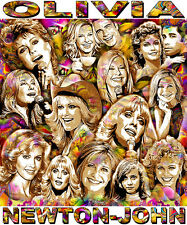 """OLIVIA NEWTON-JOHN"" TRIBUTE T-SHIRT OR PRINT BY ED SEEMAN"