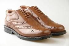 Mens New Brown Leather Wide Fitting brogues Shoes 6 7 8 9 10 11 12 13 14