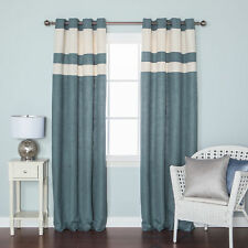 Best Home Fashion, Inc. Heavyweight Striped Semi-Sheer Grommet Curtain Panels