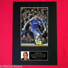 FERNANDO TORRES Chelsea Mounted Signed Photo Reproduction Autograph Print A4 37