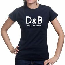 Dolce and & Banana Ladies Womens T shirt - Funny Fashion D&B NWT Size Tee Top