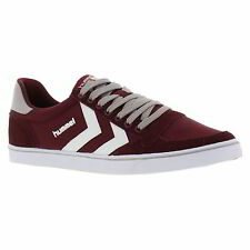 Hummel Slimmer Stadil Lo Mens Low Canvas Trainers Shoes Size UK 7-13