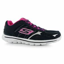 Skechers Womens Go Walk2 Fh Nylon Lace Up Trainers Sports Running Shoes