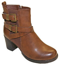 Boot boot Woman Heel Square Leatherette Triple flanges pierre-cedric