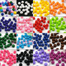 Acrylic Round Spacer Beads 6mm,8mm,10mm DIY 15Colors-1 Or Mixed R5099
