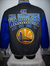 GOLDEN STATE WARRIORS NBA 4 TIME Championship Wool & Leather Jacket S M L XL