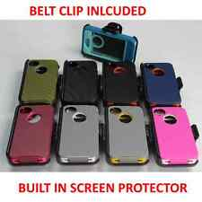 For iPhone 4S / 4 Case Cover Built In Screen [Belt Clip Fits Otterbox Defender]