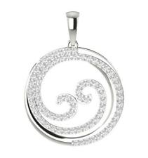 Circle Pendant Necklace I1 H 0.75Ct Round Diamond Prong Set Yellow Gold 1.10Inch