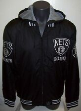 BROOKLYN NETS Ripstop Nylon Jacket with attached hood LG XL 2X JH Designs