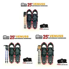 """New MTN All Terrain Snowshoes + Nordic Pole + Free Carrying Bag 25"""" RED"""