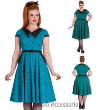 RKP83 Hell Bunny Brooke Dress Rockabilly Pin Up Retro Polka Dot Vintage 50 Swing