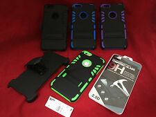 BELT CLIP HOLSTER HEAVY DUTY ARMOR CASE GLASS SCREEN PROTECTOR FOR IPHONE 6 PLUS