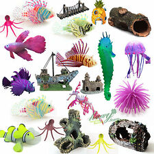 Artificial Cave Resin Landscaping Fish Hiding Tank Aquarium Ornament Decorations