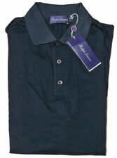 Ralph Lauren Purple Label Mens Cotton Knit Italy Button Polo Sport Shirt New