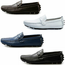 Mens Casual Leather Slip On Loafers Shoes Elite Driving Moccasin-gommino Shoes
