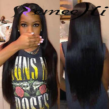 Baby hair 100% Indian Remy Human Hair Silky Straight  Lace Front/Full Wigs